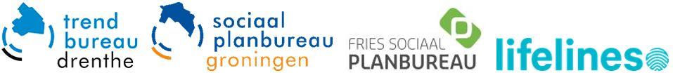 logo's Lifelines en de 3 noordelijke planbureaus