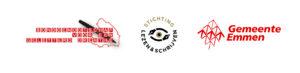 logo St. Lezen en Schrijven, gemeente Emmen en Bontgenootschap voor een geletterd Drenthe